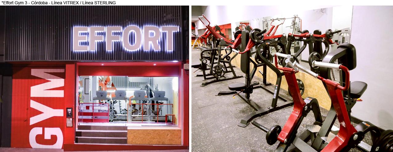 Effort Gym 3 - Córdoba - Línea VITREX / Línea STERLING
