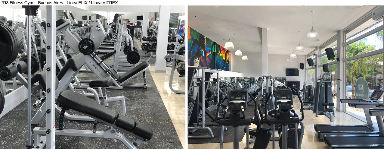 R3 Fitness Gym - Buenos Aires - Línea ELIX / Línea VITREX