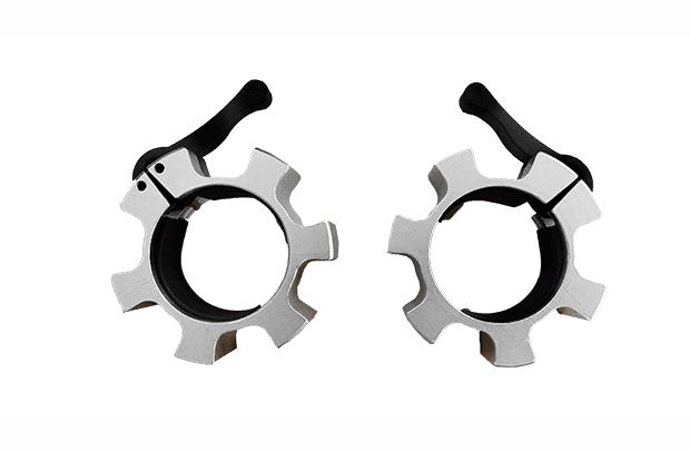 Accesorios - Topes collarines para barras olímpicas de Aluminio Macizo